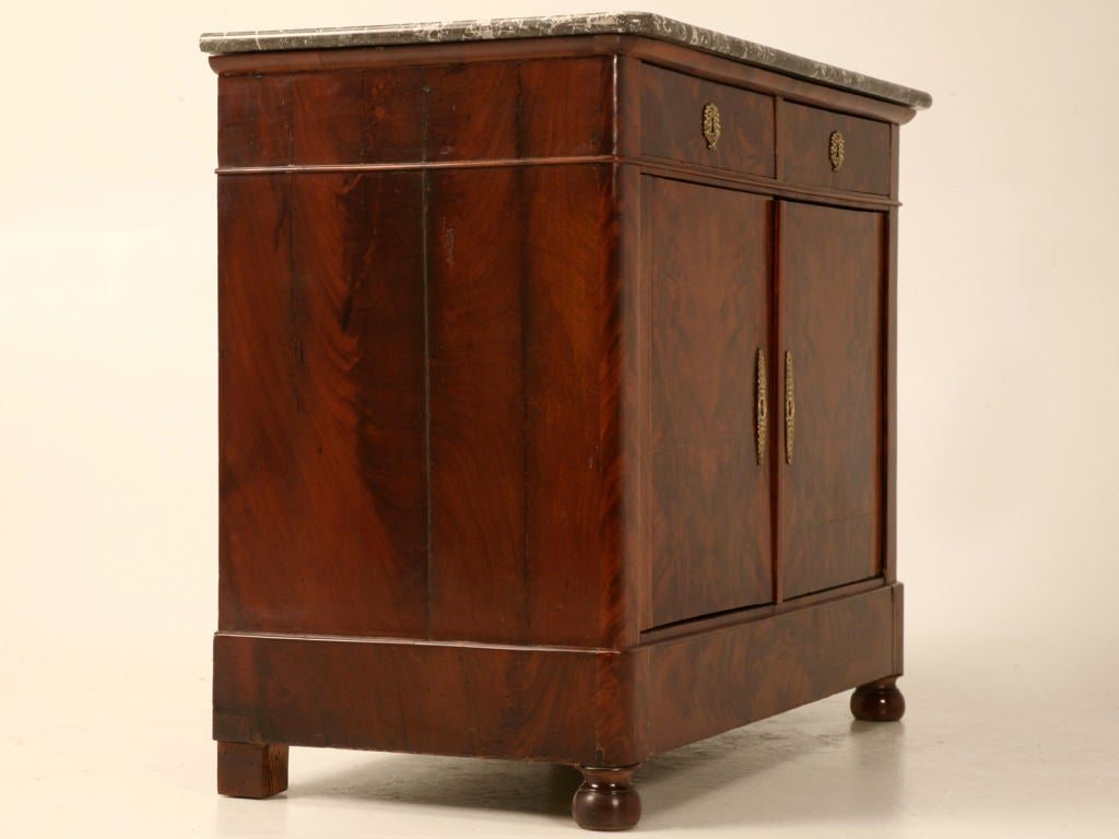 petite antique french louis philippe flame mahogany 2. Black Bedroom Furniture Sets. Home Design Ideas