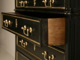Phenomenal Petite Ebonized French Louis XVI 4 Drawer Commode thumbnail 8