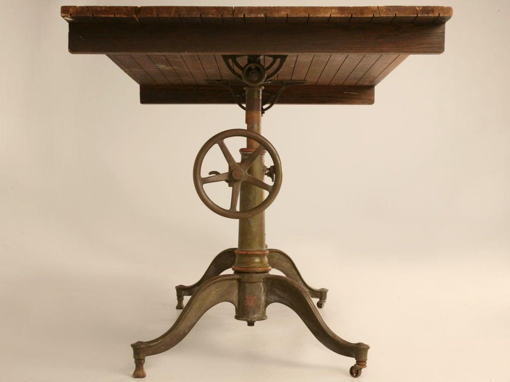 Original Antique American Iron Columbia Drafting Drawing Table At 1stdibs