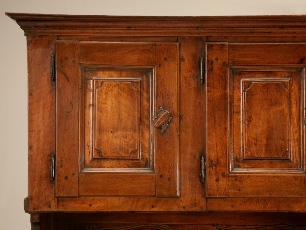 petite original antique french walnut three over three cupboard or buffet at 1stdibs. Black Bedroom Furniture Sets. Home Design Ideas