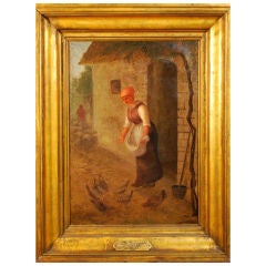 "Extraordinary Framed Antique ""School of Barbizon""  Oil on Canvas"