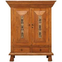 Vintage Indonesian Teak Wood Cupboard or Armoire