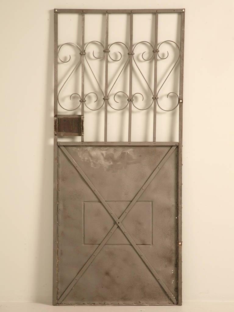 Old Steel Door : Antique french steel door at stdibs