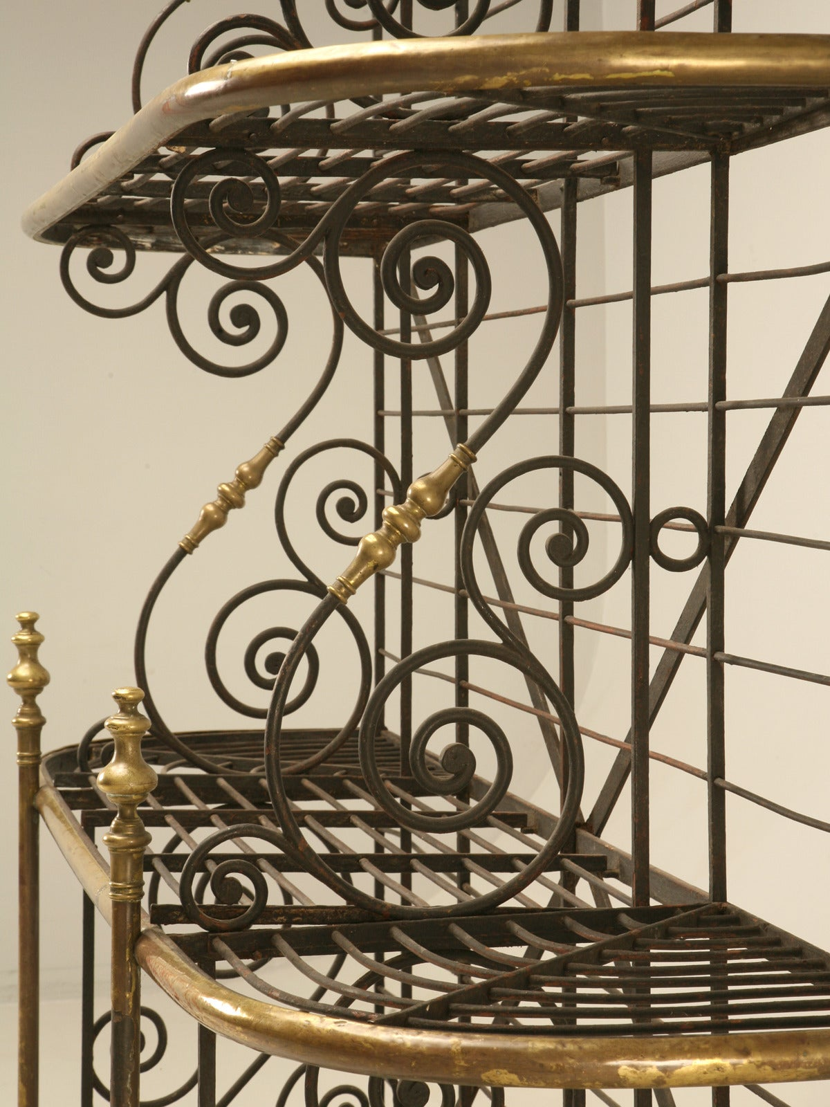 Antique French Baker S Rack From Paris With Brass Fittings