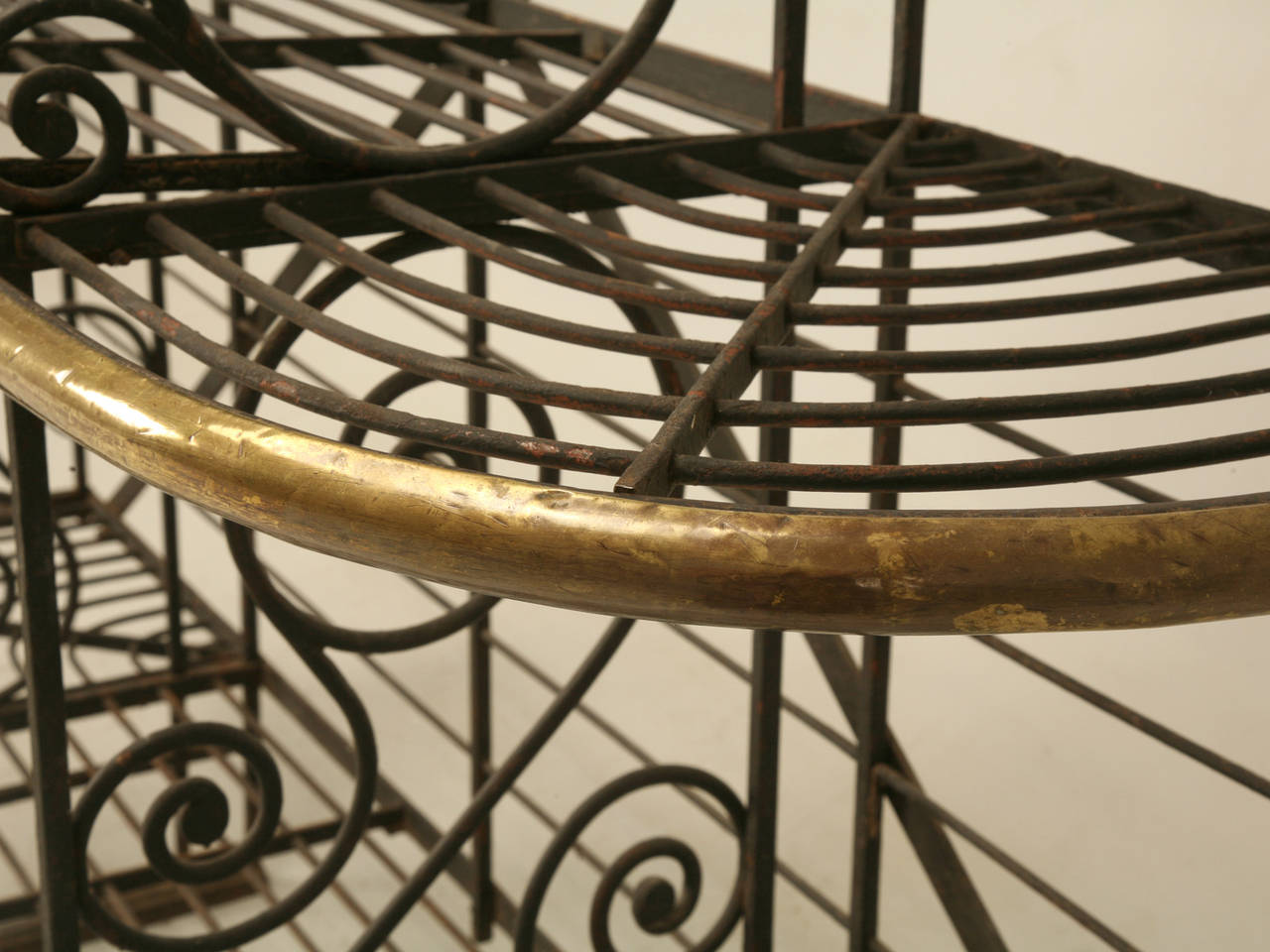 Antique French Baker S Rack From Paris With Br Ings For 1