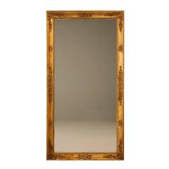 Spectacular Original Antique French Gilt Framed Sugar Mirror