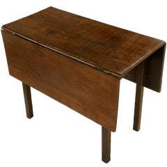 Spectacular Rustic Primitive Antq English Oak Gate Leg Table