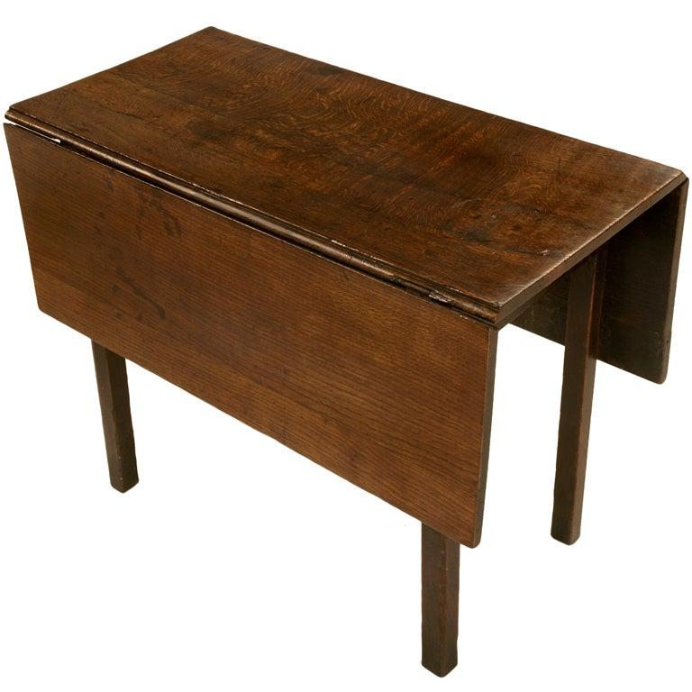 Spectacular Rustic & Primitive Antq. English Oak Gate-Leg Table