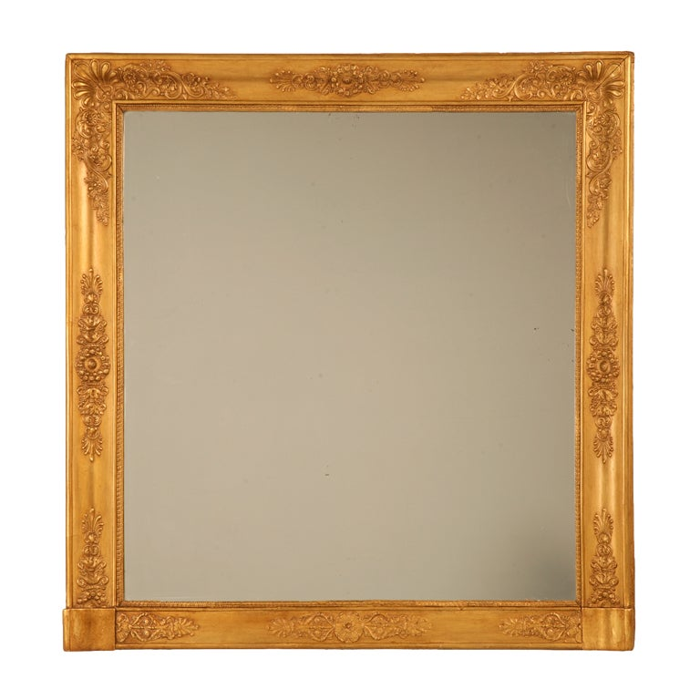 Amazing restored large square antique french gilt mirror for Large square mirror