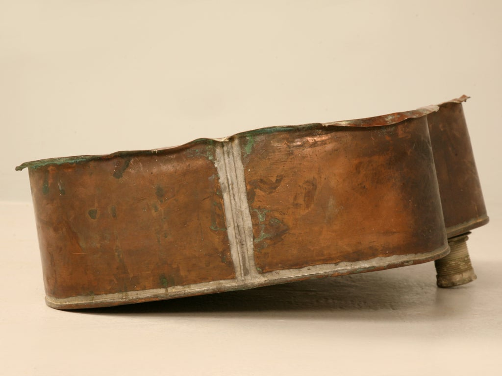 C 1890 Antique American Copper Bar Butler S Or Bathroom