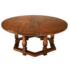 "Amazing 18th C. Italian Tuscan Region 67"" Round Oak Dining Table"