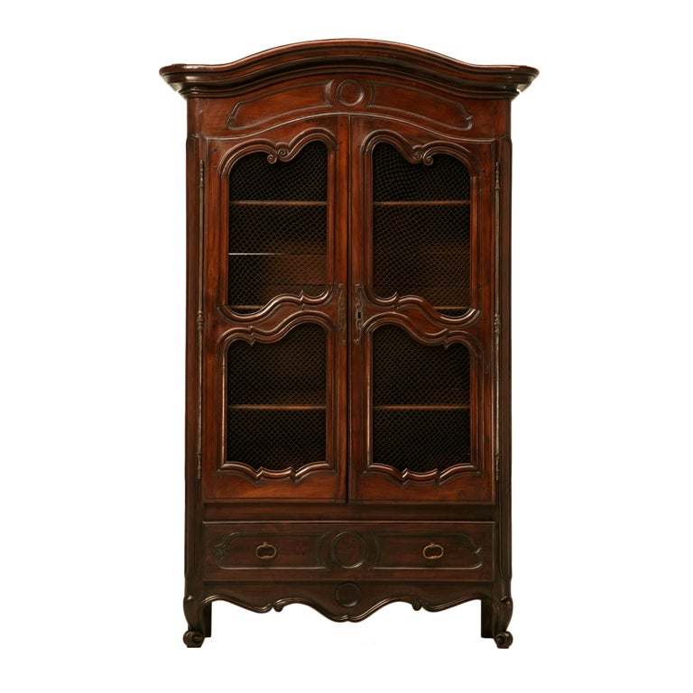 petite antique french normandy bibliotheque w drawer at. Black Bedroom Furniture Sets. Home Design Ideas