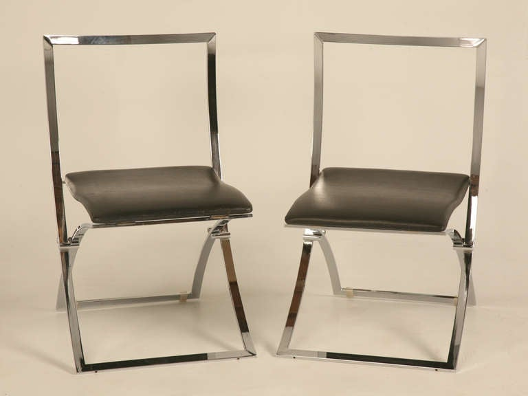 Pair Of Vintage Italian Quot Luisa Quot Folding Chairs By Marcello