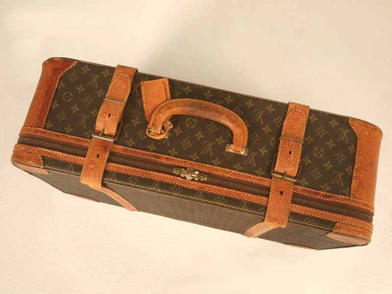 ... Vintage French Louis Vuitton Suitcase/End or Coffee Table at 1stdibs