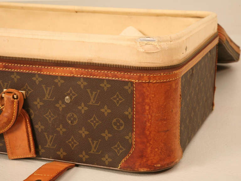 authentic vintage french louis vuitton suitcase  end or coffee table at 1stdibs