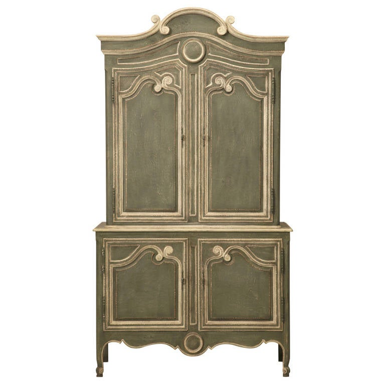 vintage baker country french style armoire or buffet deux corps at 1stdibs. Black Bedroom Furniture Sets. Home Design Ideas