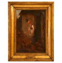 """Attributed to the """"School of Millet,"""" French Barbizon Painting, circa 1850"""