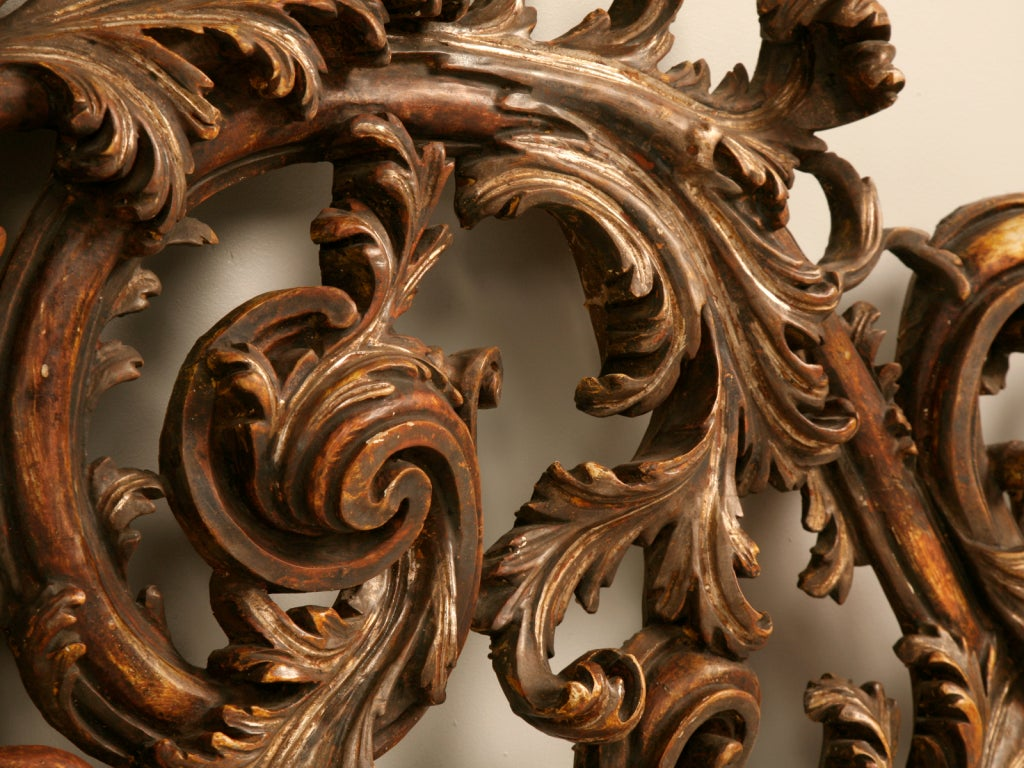 Exquisite Antq. Italian Carved & Gilded Organic Relief/Headboard For Sale 2