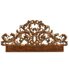 Exquisite Antq. Italian Carved & Gilded Organic Relief/Headboard thumbnail 1