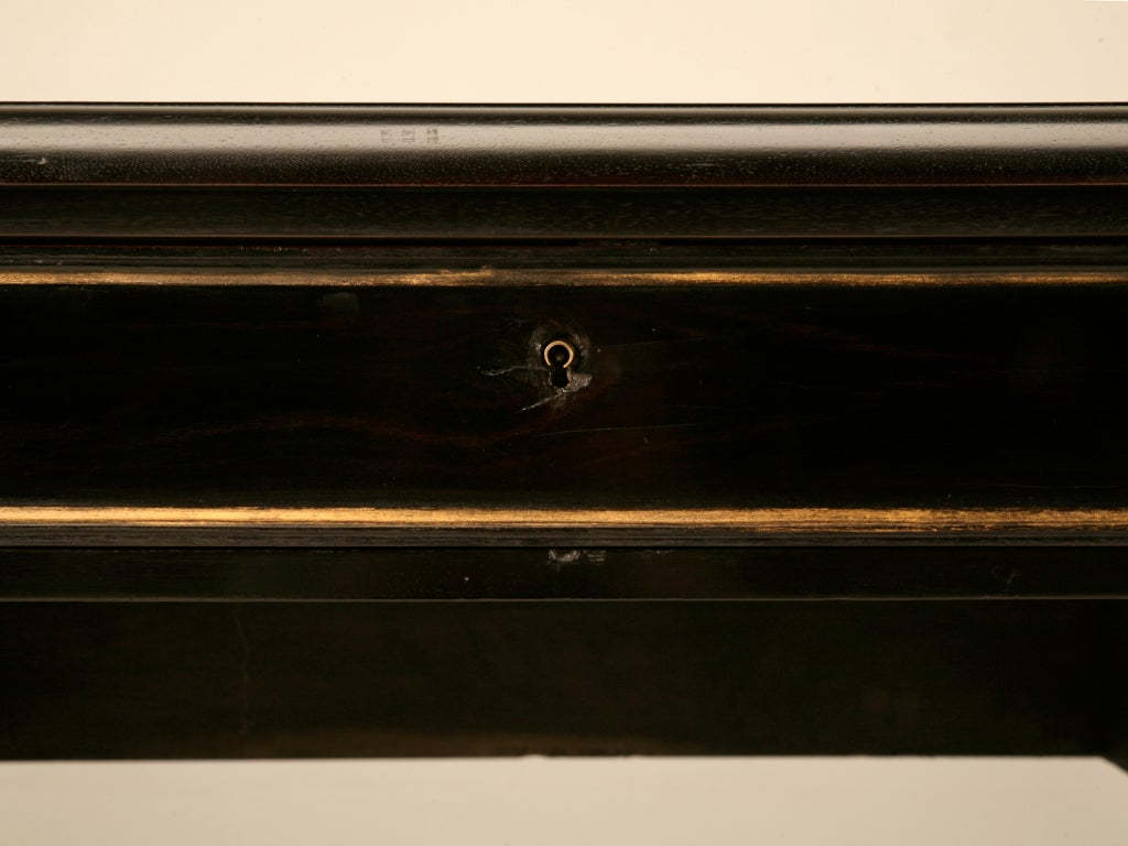 Restored Ebonized Antique French Bureau Plat/Desk w/Gilt Accents image 7