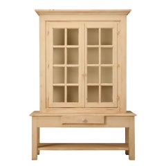 Vintage French Cabinet Made From Reclaimed Antique Windows