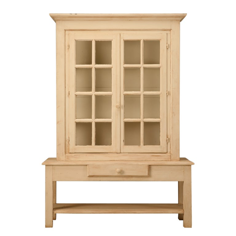 Vintage French Cabinet Made From Reclaimed Antique Windows For Sale