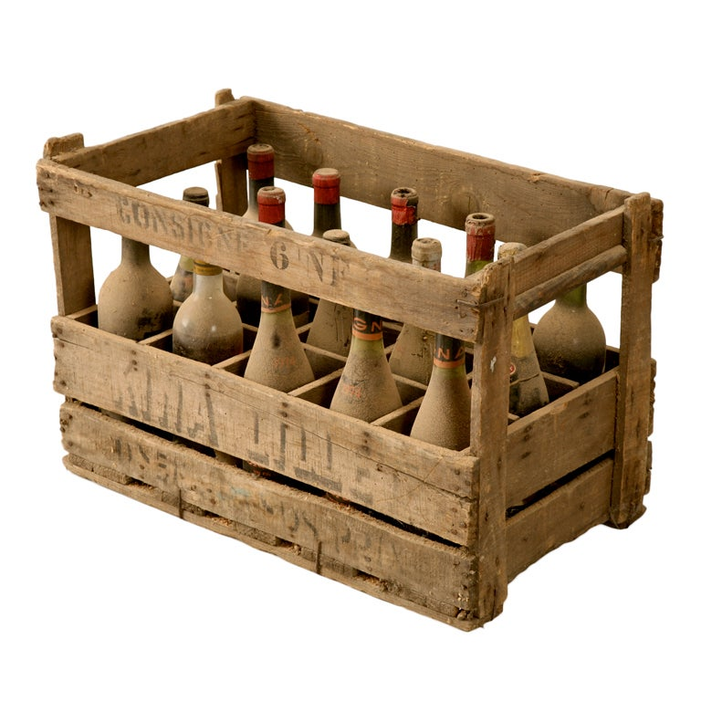 original vintage french wine crate s for props and