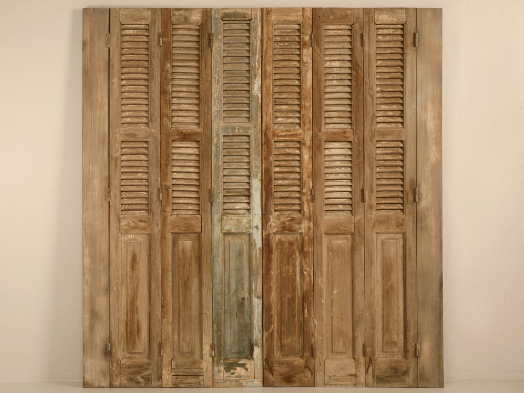 Antique French Shutters With Original Paint