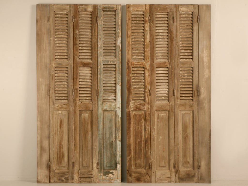 Antique french shutters with original paint for sale at for French country shutters