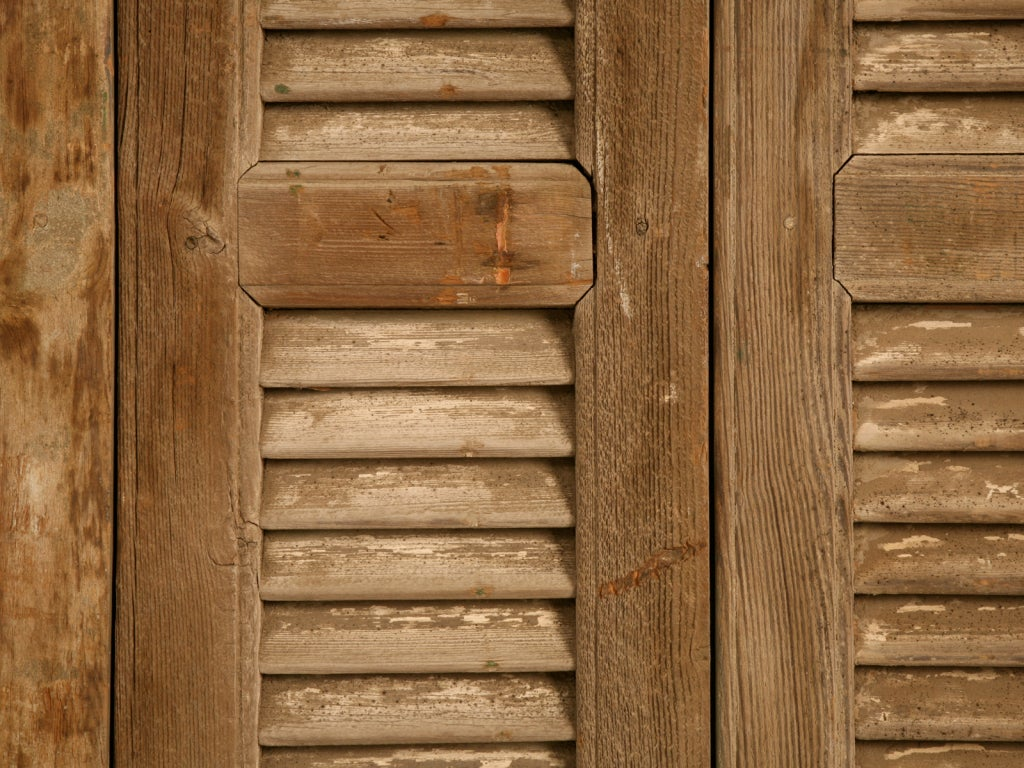 Antique French Shutters With Original Paint For Sale At
