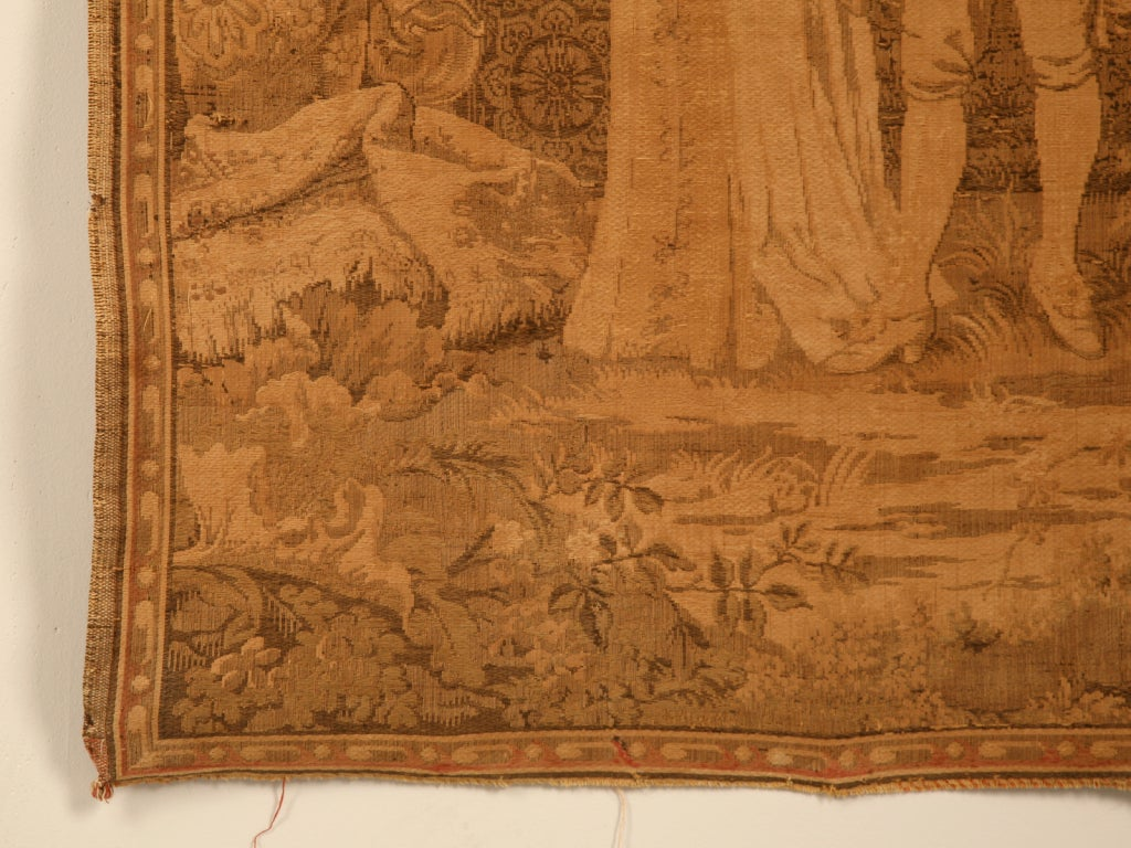 Outstanding Vintage French Tapestry Wall Hanging Of A