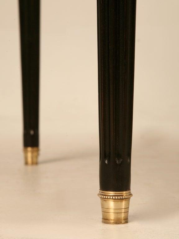 Elegant French LXVI Ebonized Mahogany 3 Drawer Bureau Plat/Desk For Sale 5