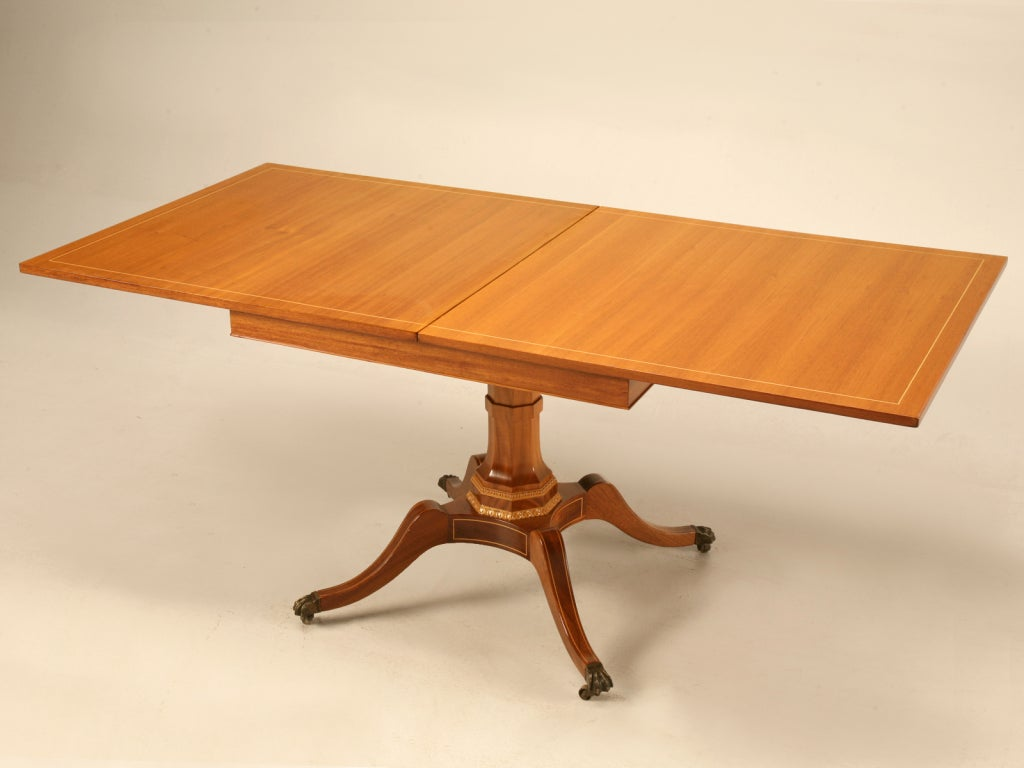 Mahogany Flip Top Square To Rectangle Games Dining Table At 1stdibs