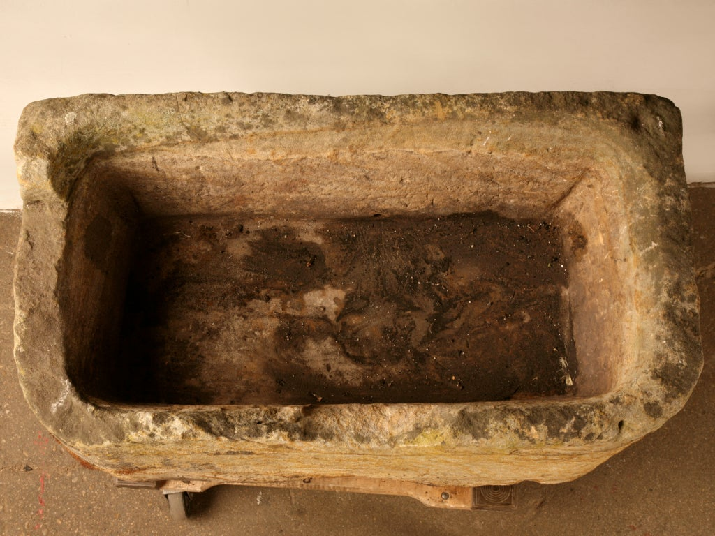 ... 18th C Carved Stone Horse Trough, Planter, Fountain, Sink at 1stdibs