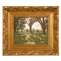 "Original ""Summer in the Country"" Signed LR-Nice Gilt Frame"