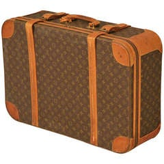 Authentic Vintage French Louis Vuitton Suitcase/End or Coffee Table