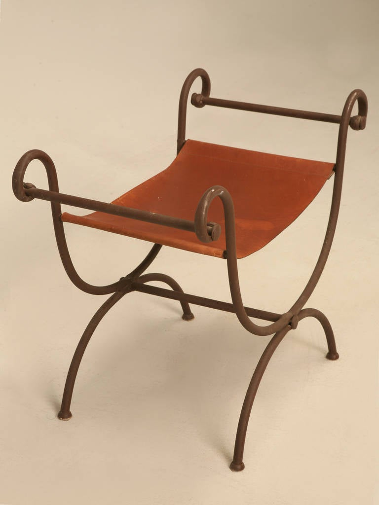 Hand Forged Iron Vanity Bench For Sale At 1stdibs