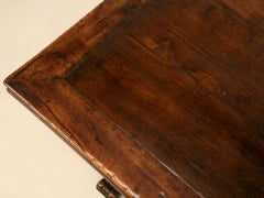 Extraordinary Antique French Chestnut & Walnut Trestle Table image 5
