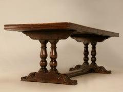 Extraordinary Antique French Chestnut & Walnut Trestle Table image 7
