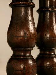Extraordinary Antique French Chestnut & Walnut Trestle Table image 8