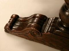 Extraordinary Antique French Chestnut & Walnut Trestle Table image 9