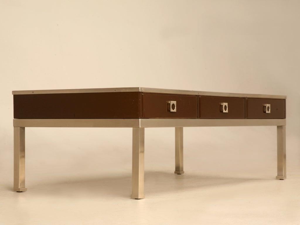 Modern guy lefevre for maison jansen 3 drawer coffee table for modern guy lefevre for maison jansen 3 drawer coffee table 2 geotapseo Choice Image