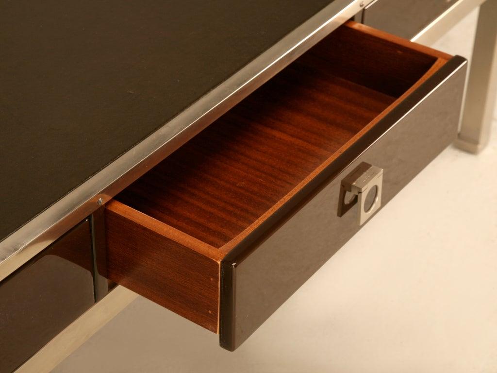 Modern Guy Lefevre For Maison Jansen 3 Drawer Coffee Table For Sale At 1stdibs