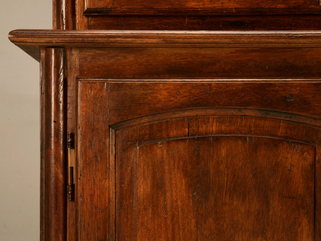 Classic vintage french walnut 4 over 4 bibliotheque cabinet for sale at 1stdibs - Bibliotheque 4 cases ...