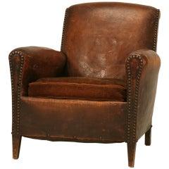 Single & Handsome Original Vintage French Art Deco Club Chair
