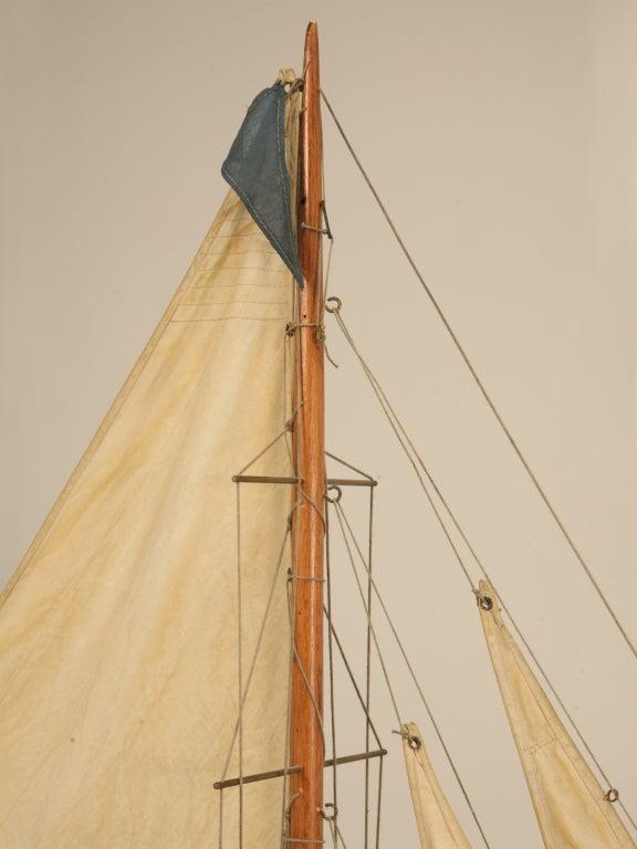 Stellar Antique English Gentleman's Pond Yacht on Stand at ...