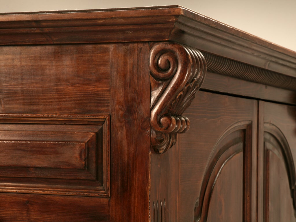 incredible pine bedroom furniture | Incredible Vintage English Solid Pine Entertainment Center ...