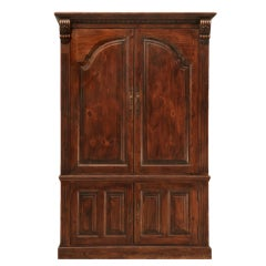 Incredible Vintage English Solid Pine Entertainment Center/Armoire