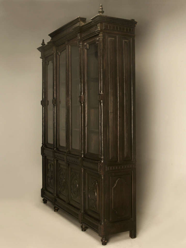 One of our most highly sought after items here at Old Plank right now seems to be large cabinets and this one is exceptional. Built with old world craftsmanship and know how, this Fine bibliotheque or cabinet has so many amenities, I don't know