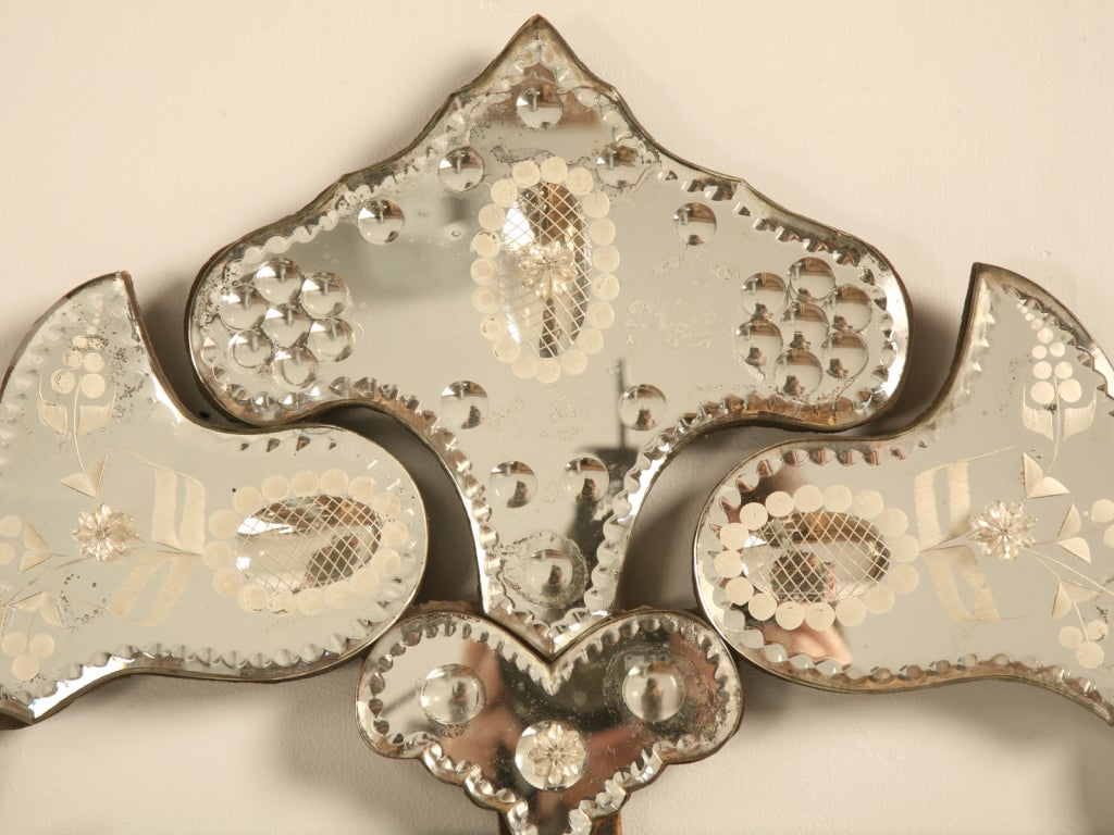 Spectacular Early 20th C. Italian Venetian Mirror w/Canted Corners 3